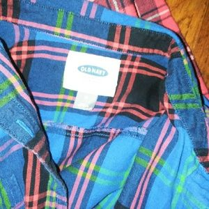 Old Navy Other - 2 womens plad flannel shirts
